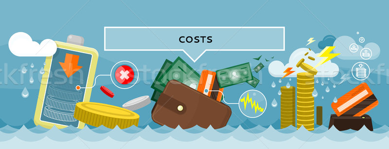 Costs Concept Design Style Flat Stock photo © robuart