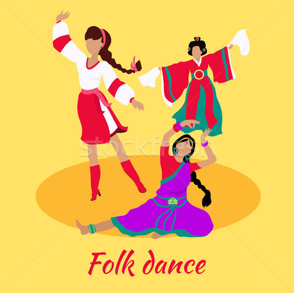 Folk Dance Concept Flat Design Stock photo © robuart