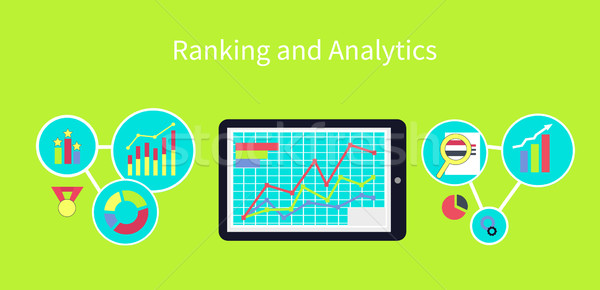 Ranking Analytik Design Analyse Symbol Daten Stock foto © robuart