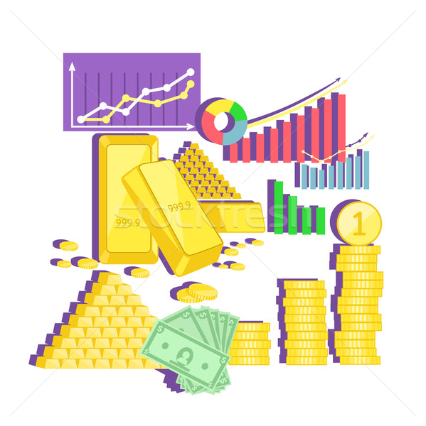 Invest in Gold Concept Icon Flat Design Stock photo © robuart