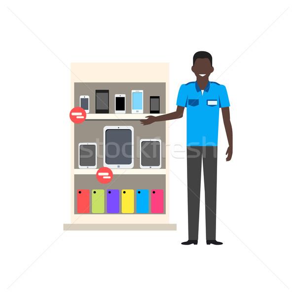 Sale of Smartphone Design Flat Store Stock photo © robuart