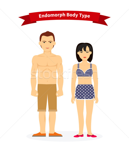 Endomorph Body Type Woman and Man Stock photo © robuart