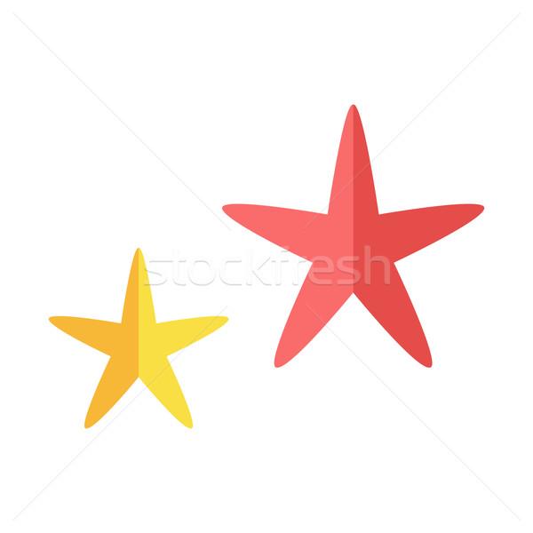 Cheerful Cute Starfishe Stock photo © robuart