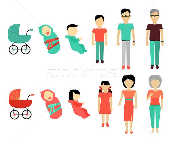 Human Growing Up Concept Illustration. Stock photo © robuart