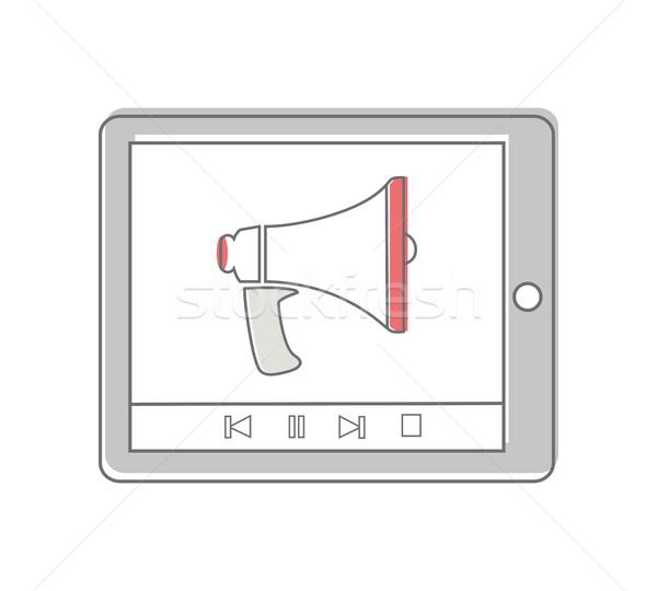 Megafone tela vídeo marketing Foto stock © robuart