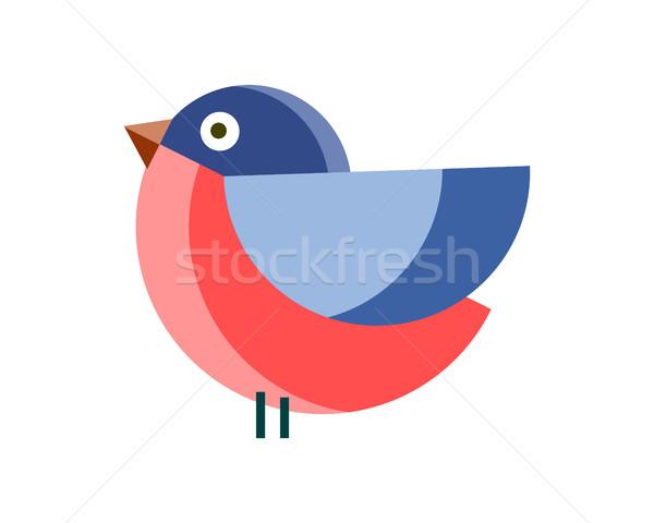 Eenvoudige vector ontwerp illustratie grappig kleur Stockfoto © robuart