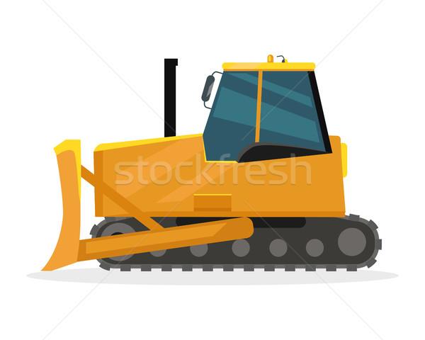 Buldózer terv nehéz építkezés gép illusztráció Stock fotó © robuart