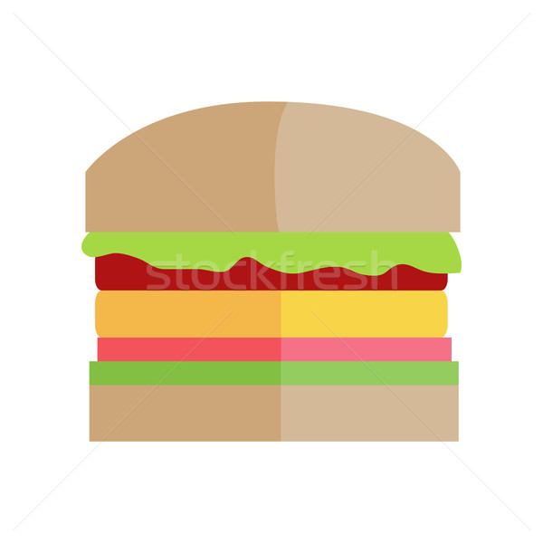 Fast food hamburger vettore design classico sandwich Foto d'archivio © robuart