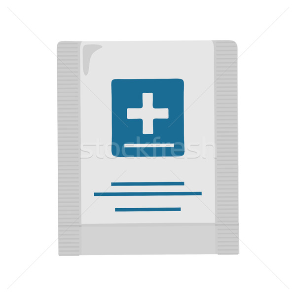 Primeros auxilios diseno plástico bolsa cruz Foto stock © robuart
