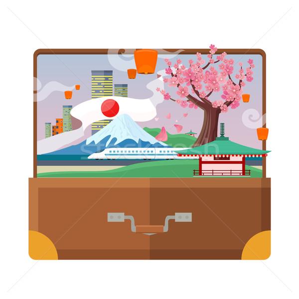 Viaggio stile vettore valigia vacanze Foto d'archivio © robuart