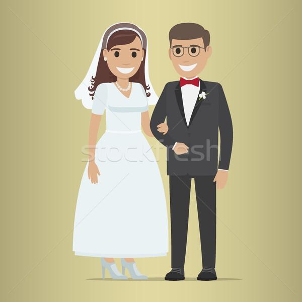 Stockfoto: Bruiloft · dag · web · banner · paar