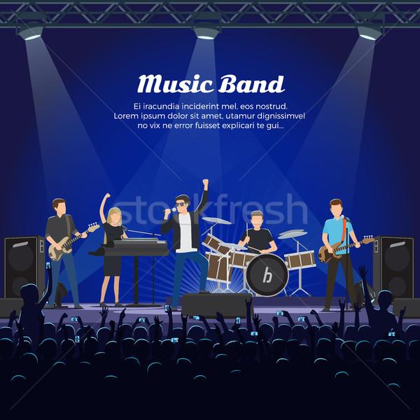 Musica band fase molti cantante due Foto d'archivio © robuart