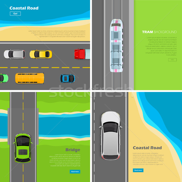 Moderne snelweg vector web banners ingesteld Stockfoto © robuart