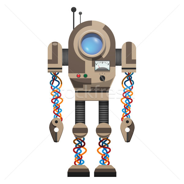 Mechanical Robot with Round Screen and Antennas Stock photo © robuart