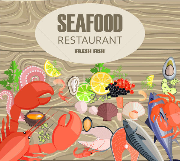 Seafood Restaurant with Meals Made of Fresh Fish Stock photo © robuart