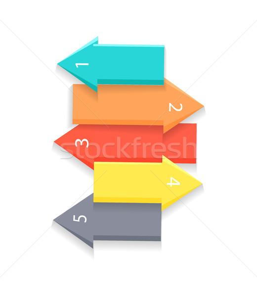 Colorato frecce elenco arrow numeri uno Foto d'archivio © robuart