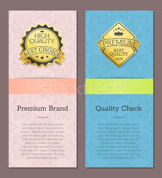 Premie merk hoog kwaliteit controleren gunning Stockfoto © robuart
