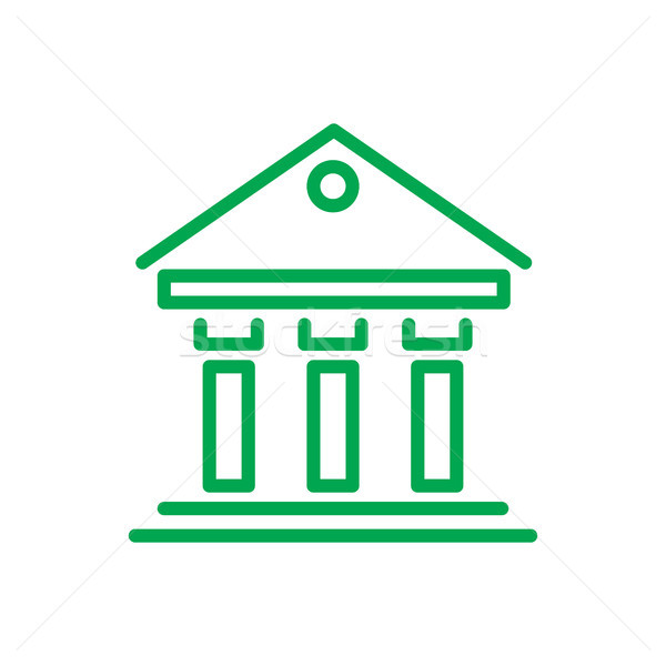 Greek Building Inforgaphic Vector Illustration Stock photo © robuart