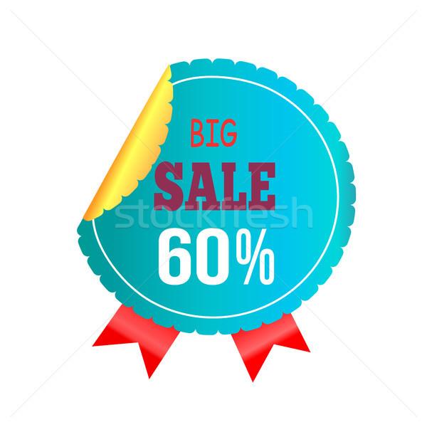 Big Sale -60 Blue Label on Vector Illustration Stock photo © robuart