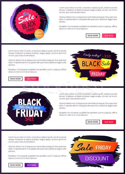 Grande venda black friday site especial promoção Foto stock © robuart