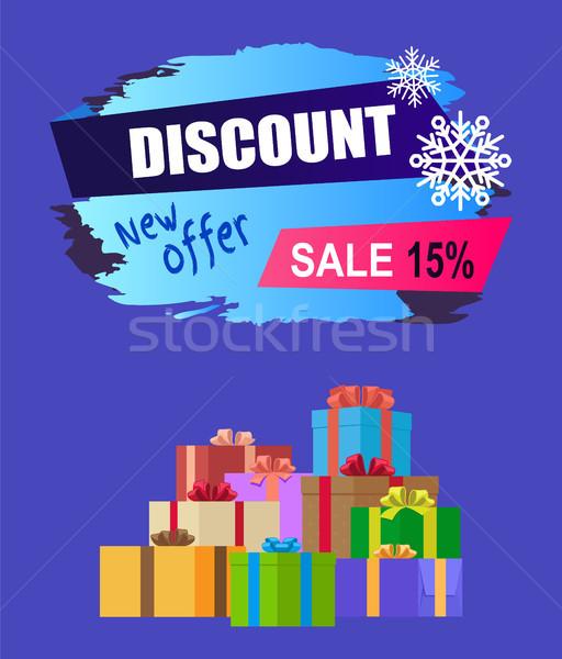 Yeni teklif indirim 15 kış satış Stok fotoğraf © robuart