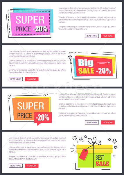 Super Price -20 Collection Vector Illustration Stock photo © robuart