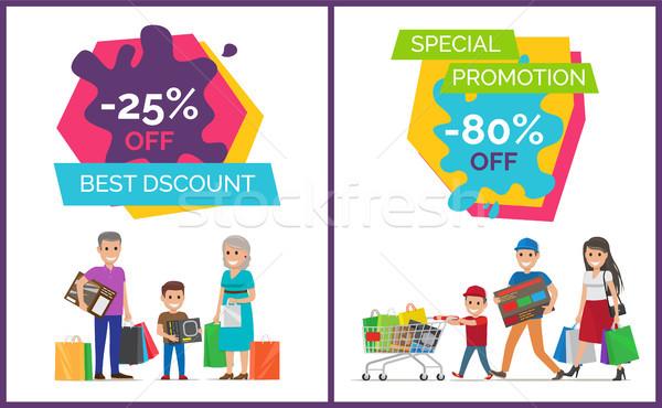 Best korting promotie poster speciaal posters Stockfoto © robuart