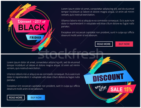 Discount Black Friday -15 Vector Illustration Stock photo © robuart