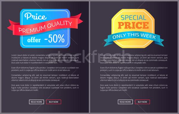 Prémium minőség ár ajánlat hét fél Stock fotó © robuart