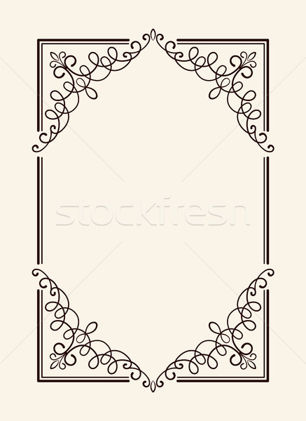Alten Jahrgang Rahmen geschnitten dünne Wirbel Stock foto © robuart