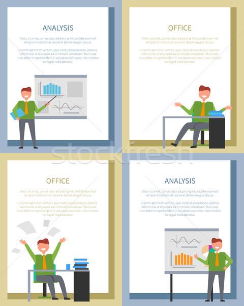 анализ плакат бизнесменов совета таблице служба Сток-фото © robuart