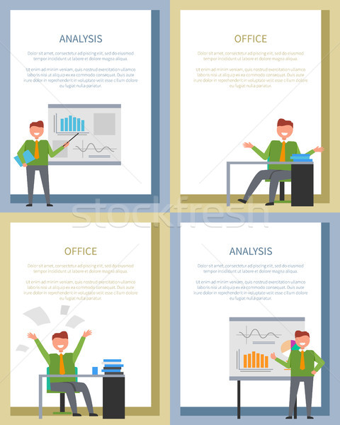 Analyse affiche affaires bord table bureau Photo stock © robuart