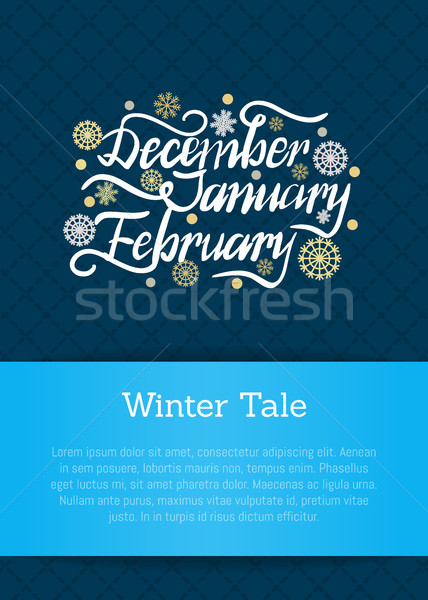 December January February Winter Month Inscription Stock photo © robuart