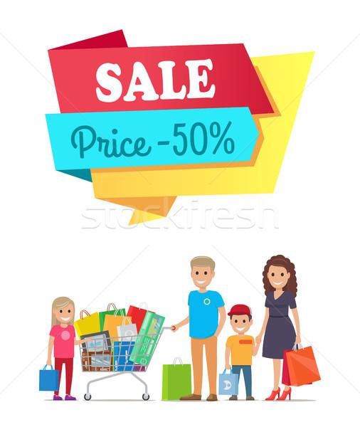 Sprzedaży cena 50 promo etykiety Zdjęcia stock © robuart