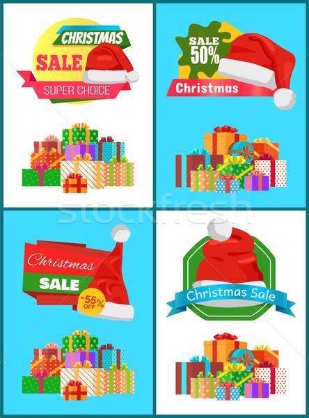 Grandiose Christmas Discount Advertisement Banners Stock photo © robuart