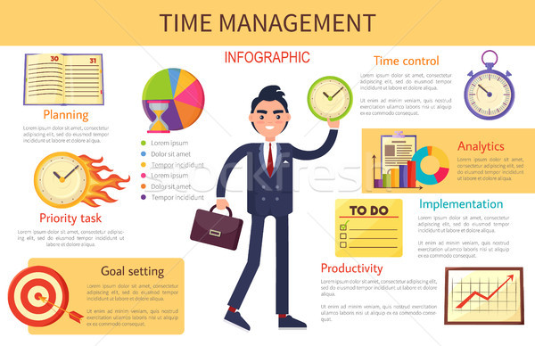 Time Management Planning Control Bright Banner Stock photo © robuart