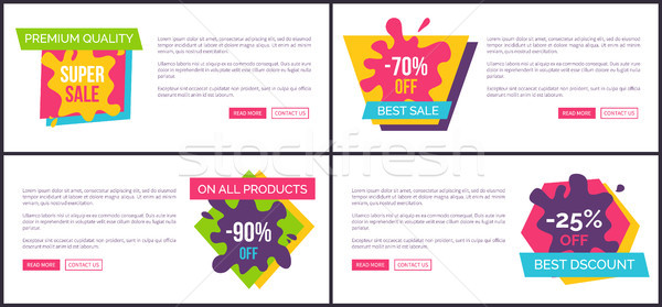 Premium Quality Super Sale, on All Products -90  Stock photo © robuart