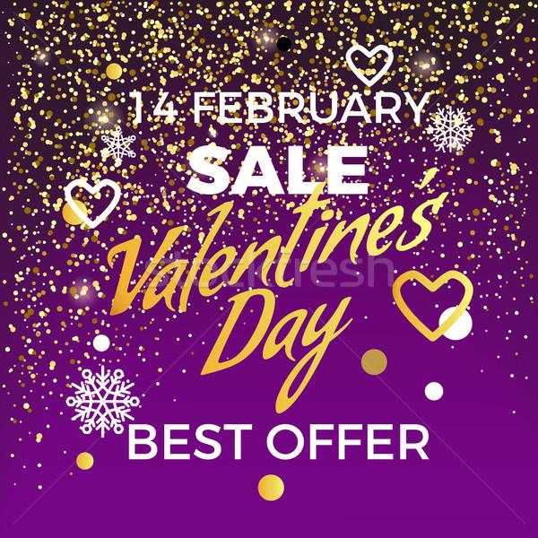 Valentijn dag 14 verkoop best bieden Stockfoto © robuart