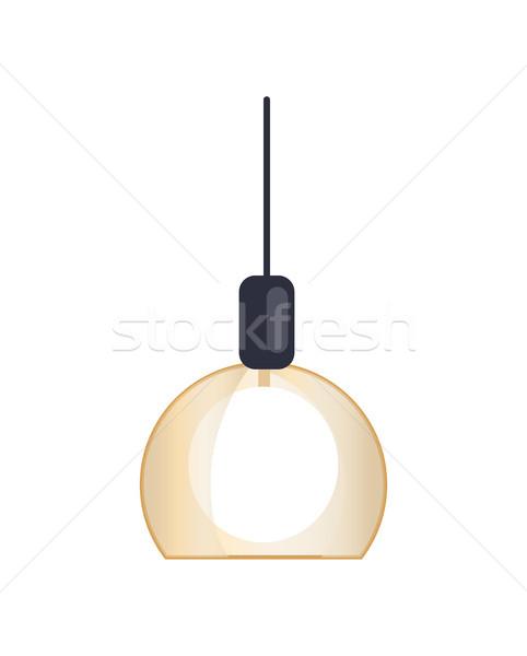 Nowoczesne żyrandol wnętrza domu wiszący lampy Zdjęcia stock © robuart