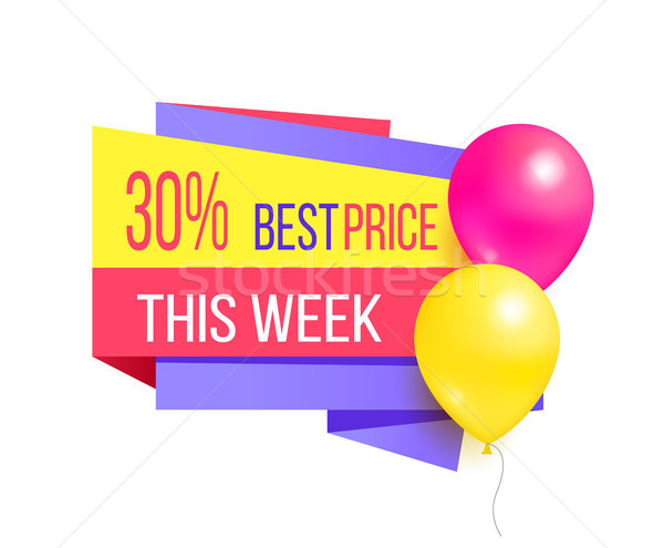 30 Best Price This Week Sale Promo Label Balloons Stock photo © robuart