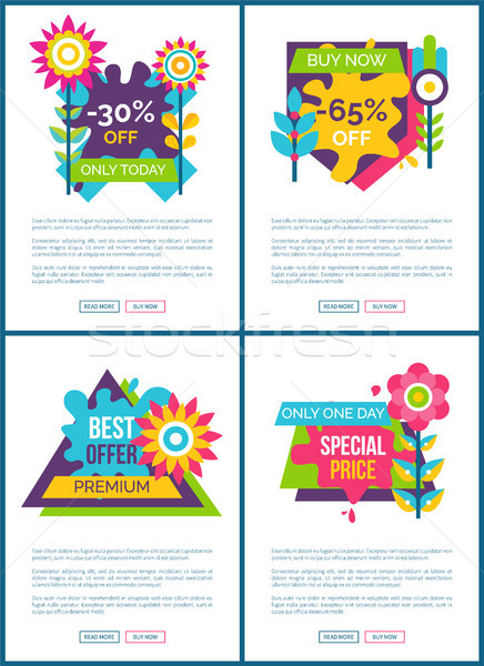 Best Offer with Special Price Promo Web Posters Stock photo © robuart