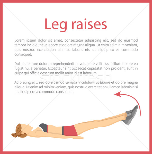 Leg Raises Poster Text Sample Vector Illustration Stock photo © robuart