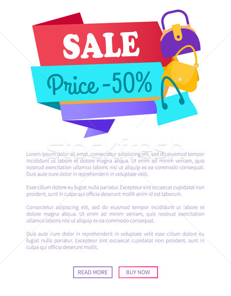Sale Price 50 Off Special Offer Discount Advert Stock photo © robuart