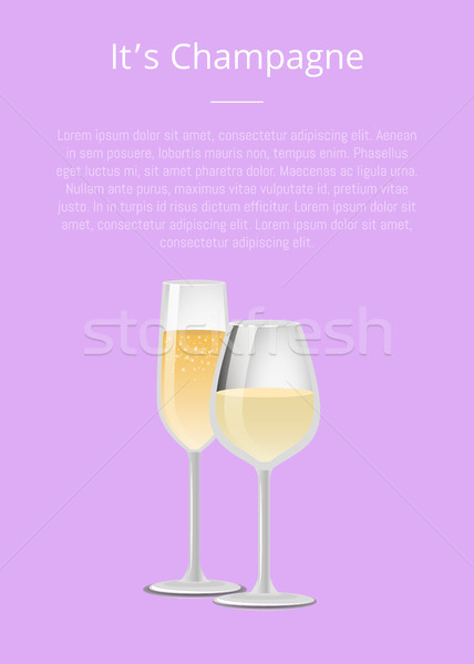 Champagne advertentie poster wijnglas alcohol Stockfoto © robuart