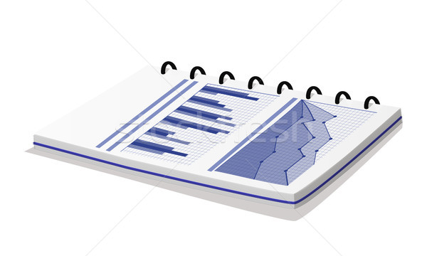Notepad with Statistical Diagram Vector Banner Stock photo © robuart