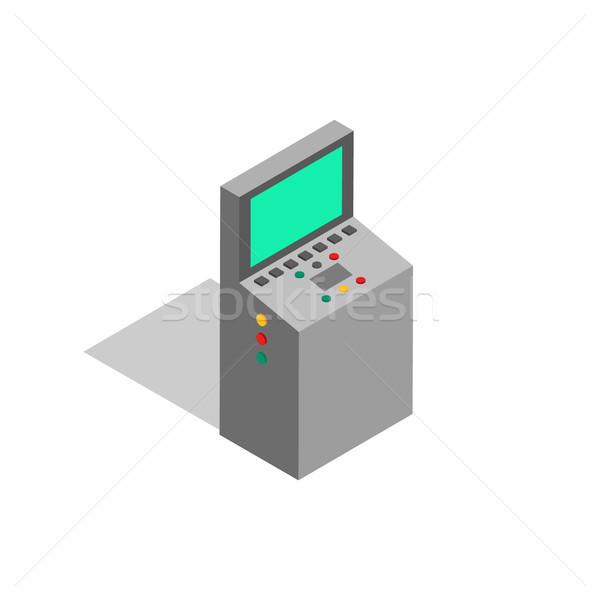 Factory Screen Monitoring Vector Illustration Stock photo © robuart