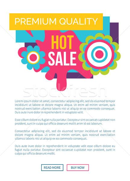 Caliente venta prima calidad etiqueta resumen Foto stock © robuart