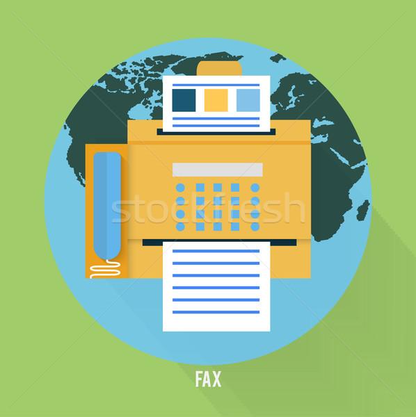 ファックス アイコン デザイン 地図 セット ウェブ ストックフォト © robuart