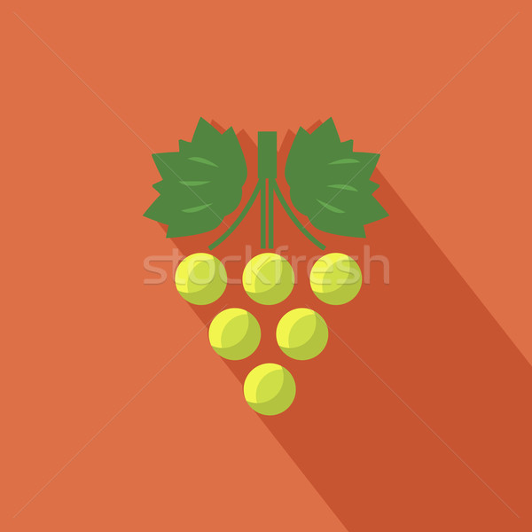 Stok fotoğraf: üzüm · ikon · gölge · şarap · dizayn · meyve