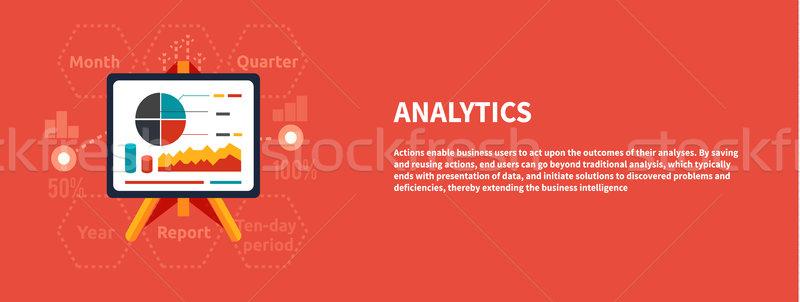 Stockfoto: Stand · charts · business · analytics · ontwerp · bar